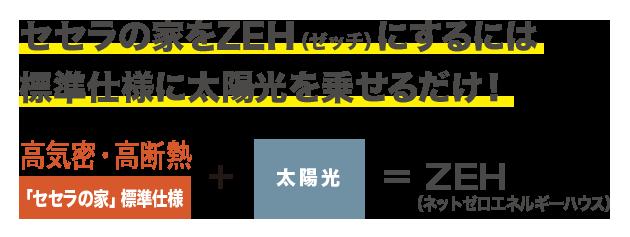 ZEH(ゼッチ)にするには太陽光パネルを乗せるだけ