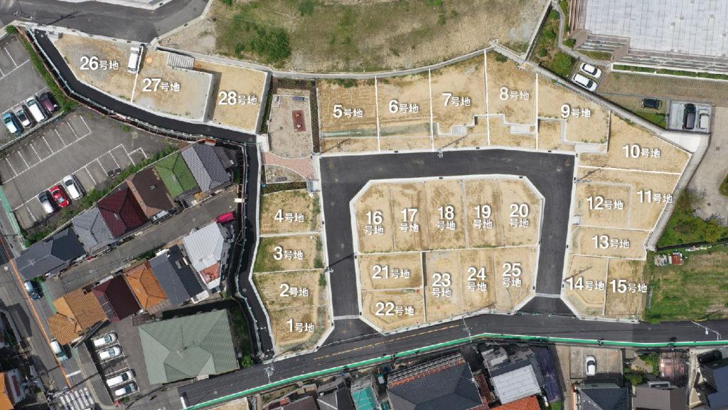 神園町プロジェクト区画図